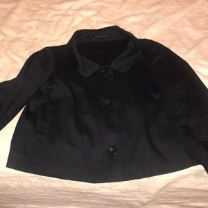 Black linen theory size 4 jacket